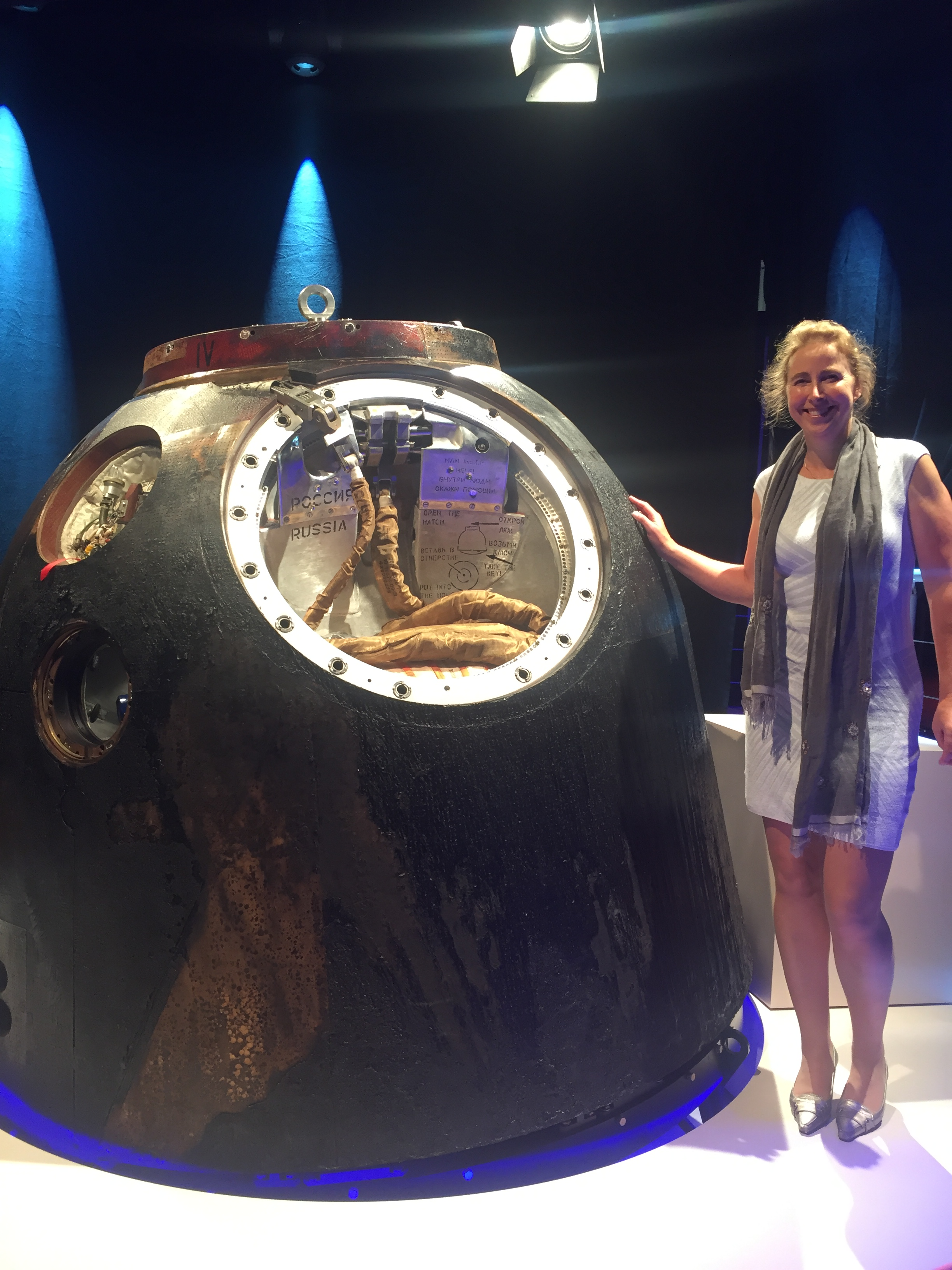the soyuz capsule is in the netherlands  also made